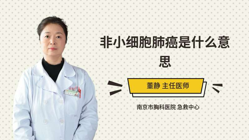 非小细胞肺癌是什么意思