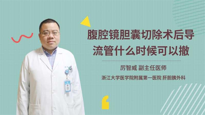 腹腔镜胆囊切除术后导流管什么时候可以撤