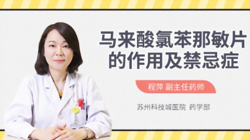 马来酸氯苯那敏片的作用及禁忌症