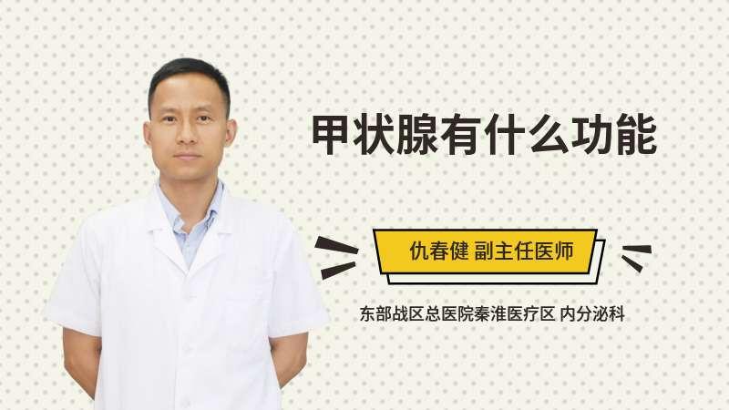 甲狀腺有什么功能