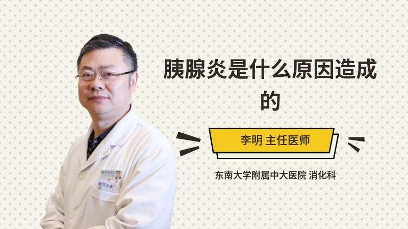 胰腺炎是什么原因造成的