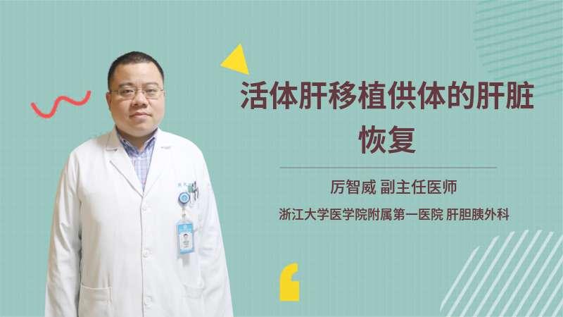 活体肝移植供体的肝脏恢复