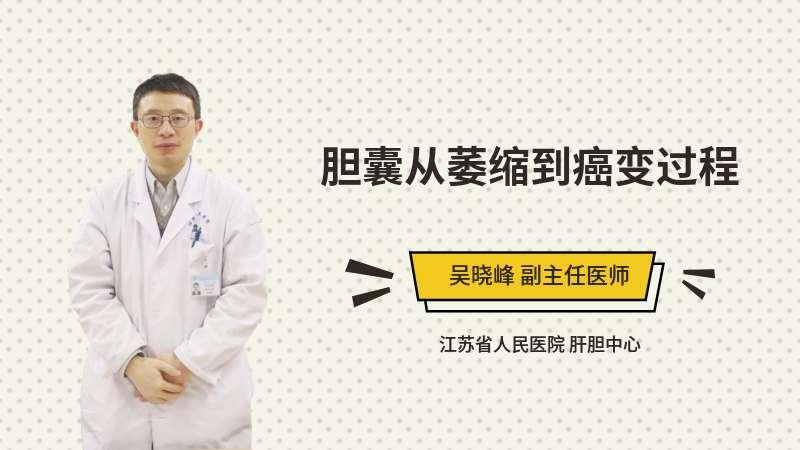 胆囊从萎缩到癌变过程